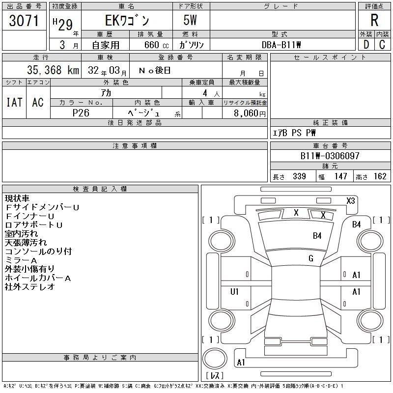 Mitsubishi EK WAGON 2017